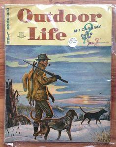 Vintage February 1945 Outdoor Life Magazine Hunting Fishing Trout Dog Guns Fox. $5.00, via Etsy.