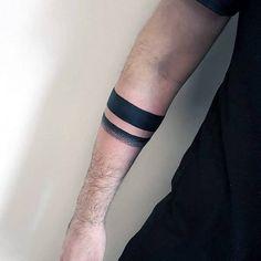 Minimalist black armband tattoo on the right forearm Black Band Tattoo, Tattoo Band, Band Tattoo Designs, Forearm Band Tattoos, Flower Wrist Tattoos, Wrist Tattoos For Guys, Tattoos For Women, Tribal Band Tattoo, Tattoo Thigh