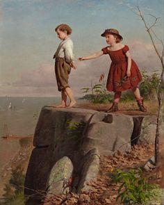 """Unconscious of Danger"" (1865) by Seymour Joseph Guy"