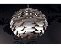 IiNTERIOR Anemone Lampa Wisząca Srebrna Metal Szczotkowany 50 cm - i9927