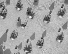 A Los Angeles-based photographer has snapped gorgeous black-and-white aerial pictures for the past two years while soaring over the city in a helicopter.
