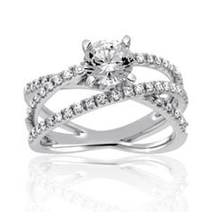 Reis-Nichols Jewelers : Diamond Engagement Ring - so so pretty! The 3 bands connected can represent your past, present and future