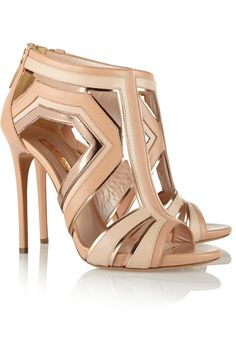 CASADEI Paneled leather sandals