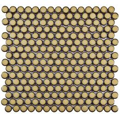 Merola Tile Hudson Penny Round Caffe 12 in. x 12-5/8 in. x 5 mm Porcelain Mosaic Tile (10.2 sq. ft. / case) - FKOMPR73 - The Home Depot