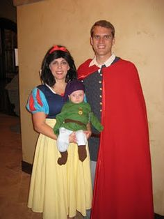 Ffamily Halloween costume - Snow White, The Prince, and one of the dwarves? I have to do it now before Lucas refuses lol