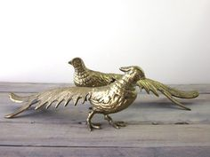 Vintage Brass Pair of Pheasant Birds by 22BayRoad on Etsy, $48.00
