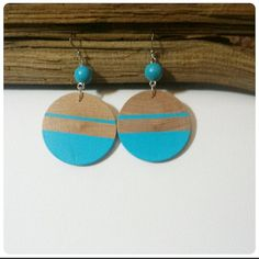 Check out this item in my Etsy shop https://www.etsy.com/listing/212209599/wood-dangle-earrings-cool-blue