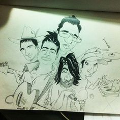 @Picadillo Ilustrador's photo Cartoon Characters Rock Band Illustration Ilustracion Dibujo Comic
