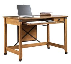 Writing Desk Amber Pine by Sauder - 1-800-460-0858 - Free Shipping - Office Furniture 2go.com