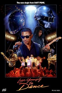 """The Robots, #Pharell, and #NileRodgers have dusted off their sequin jackets for the new video for #DaftPunk's """"Lose Yourself to Dance."""""""