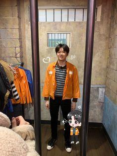 Happy Birthday My Love, Hyun Suk, Korean Boys Ulzzang, Treasure Boxes, Boyfriend Material, Yoshi, Bomber Jacket, Leather Jacket, Entertainment