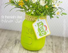Using my Pazzles Inspiration Vue digital die cutting machine with Lettering Delights svg and Pazzles wpc cutting files plus Print and Cut projects. St Patrick's Day Crafts, Jar Crafts, Kilner Jars, Mason Jars, Paper Cutting, Cut Paper, Cutting Tables, Print And Cut, St Patricks Day