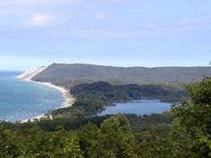 Sleeping Bear Dunes eastern shore of Lake Michigan, MI