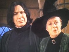 Severus Snape and Minerva McGonagall literally the best picture on the internet!!!