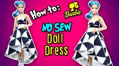How to Make No Sew Doll Dress / Gown - DIY Barbie Clothes - Making Kids ...