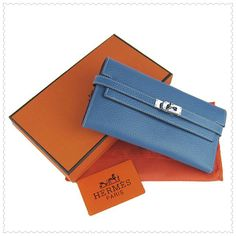 Hermes Kelly Wallet Royal Blue - Dobestbuy