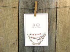 Oh Deer, Christmas is Here! // Art Card