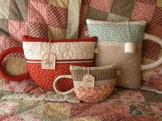 Little Pillows by PatchworkPottery, via Flickr