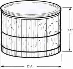 Great Northern® Custom Cedar Hot Tubs and Exercise Tubs Traditional Hot Tubs, Round Hot Tub, Portable Spa, Spa Day, Drawing, Sketches, Drawings, Draw