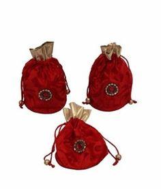 Designer Pouch Potli 3 pc combo, Wedding Gift, Diwali Gift, Gift