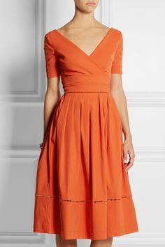 Preen by Thornton Bregazzi | Robin pointelle-trimmed stretch-crepe dress | NET-A-PORTER.COM