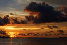Day 37, Exchange, Sunset, Sun, Clouds, Victory Beach, Sihanoukville, Cambodia