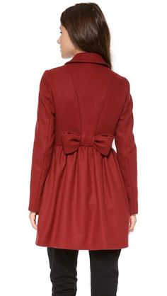 RED Valentino Bow Back Coat - Love the back!! :D