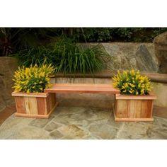 83 In. Redwood Planter Bench Kit