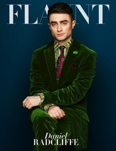 Daniel Radcliffe covers Flaunt Magazine looking like a mini me to Hamish Bowles. LOVE!