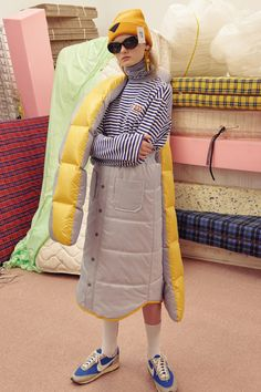 Ader Error& Fall/Winter 2017 Collection Is Daring and Futuristic Normcore Fashion, Fashion Outfits, Fashion Trends, Fashion Fashion, Textiles, Sport Fashion, Womens Fashion, Design Textile, School Fashion