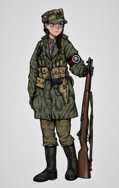 Female Character Design, Character Design Inspiration, Character Art, Anime Military, Military Women, Cool Anime Girl, Anime Art Girl, Soldier Drawing, Guerra Anime