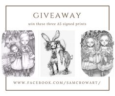 Creature 3d, 3d Illustrations, Facebook Giveaway, Curious Creatures, Graphite Drawings, March 1st, Big Hugs, Sign Printing, My Face Book