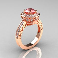 Engagement - rose gold, pink diamond