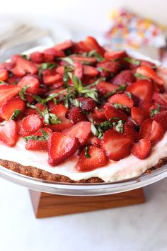 GF Grain-Free Strawberry Basil Goat Cheese Tart {Guest Post fromTasty Yummies!}