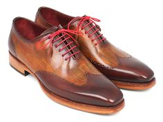 Paul Parkman Men's Wingtip Oxford Goodyear Welted Brown & Camel – Styles By Kutty