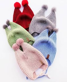 Hat Patterns To Sew, Knitting For Kids, Knitted Hats, Scarves, Winter Hats, Gloves, Baby Shower, Sewing, Stylish