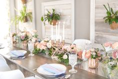 ... Modern Blush, Blue & Rose Gold Wedding Inspiration via TheELD.com ...