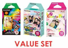 Fujifilm Instax Mini Instant Film Rainbow & Staind Glass & Candy Pop Film Value Pack
