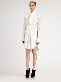 Alexander McQueen - Cotton Piquet Tunic Dress - Saks.com