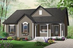House Plan 034-00187 - Country Plan: 1,226 Square Feet, 2 Bedrooms, 1 Bathroom