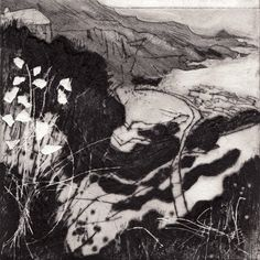 Anita Reynolds is a painter and Printmaker based in Devon. She is a member of the Devon Guild of Craftsmen, exhibits widely and runs courses and workshops. Charcoal Art, Charcoal Drawings, Pencil Drawings, Art Drawings, Contemporary Printmaking, Collagraph, Drawing Faces, Pose Reference, Drawing Tips