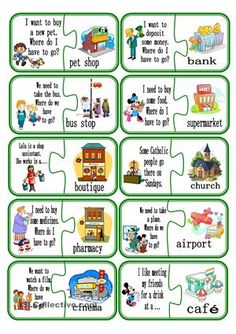 Puzzle city part 2 worksheet - Free ESL printable worksheets made by teachers Learning English For Kids, English Lessons For Kids, Kids English, English Study, Teaching English, Learn English, English Grammar Worksheets, School Worksheets, English Vocabulary