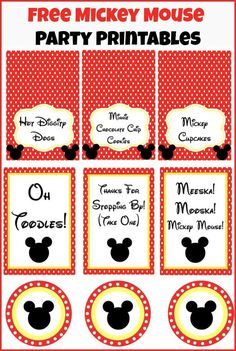 Free Mickey Mouse party printables from playpartypin.com #MickeyMouse#printables