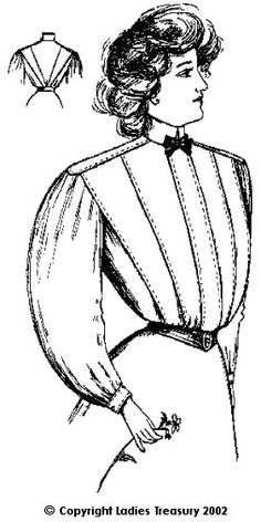 Free Pattern: Ladies Shirt Waist 1907