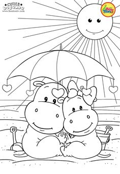 Cuties Coloring Pages for Kids – Free Preschool Printables – Slatkice Bojanke – Cute Animal Coloring Books by BonTon TV Spring Coloring Pages, Cute Coloring Pages, Disney Coloring Pages, Animal Coloring Pages, Coloring Pages For Kids, Coloring Books, Preschool Activity Sheets, Free Preschool, Preschool Printables