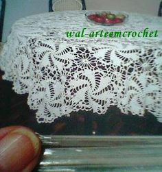 Arte em Crochet: Toalha