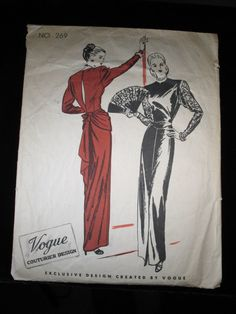 Vogue Couturier Pattern 269 1940s by Rabbitinatree