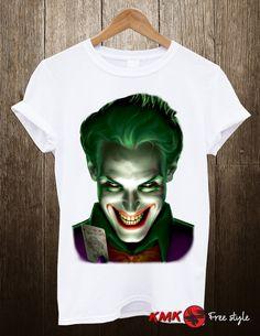 Joker T-shirt / Joker Tee / Scary Joker Tshirt / T by KMKDIGITAL Joker T Shirt, Scary, Tees, Shirts, Celebrity, Slim, Trending Outfits, Mens Tops, Fashion