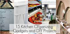 15 gadgets and diy projects to organize the kitchen