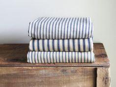 samovard: 3 Vintage Ticking Pillow...